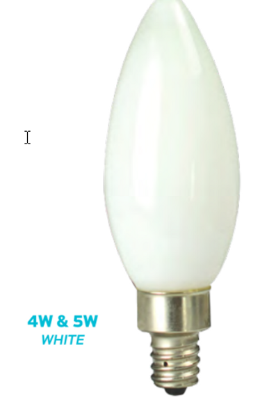 CTC - 4W & 5W WHITE FILAMENT CANDLE LAMP
