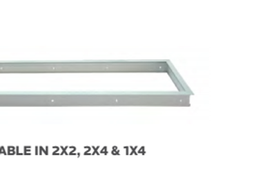 LED PANEL MOUNTING OPTIONS - Flange Kit - LAY IN FLAT PANEL