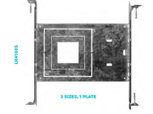 New Construction Mounting Plate Square Downlight Recessed