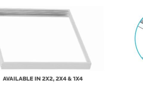 LED PANEL MOUNTING OPTIONS - Surface Kit - LAY IN FLAT PANEL