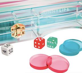 Acrylic Neon Backgammon Set