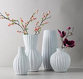 Clay Accordion Bulb Vase