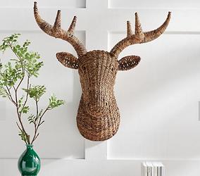 Woven Deer Head