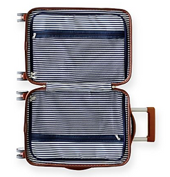 Striped Leather Carry-On