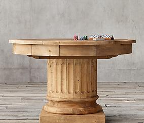 Salvaged Wood Poker Table