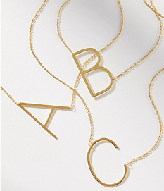 Block Letter Necklace