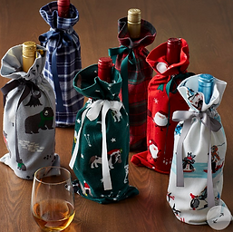 Flannel Wine Bags