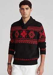 Snowflake Shawl Sweater