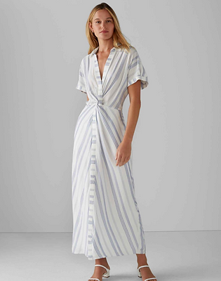Striped Twist Maxi Dress