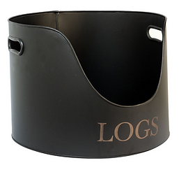 Iron & Clay Log Holder