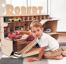 Personalized Toy Car Garage