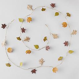 Metal Autumn Leaves Garland