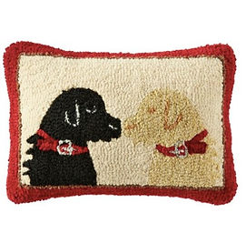 Wool Hooked Throw Pillow