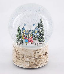 Blue House Snow Globe
