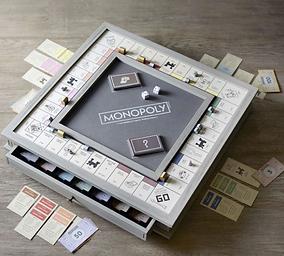 Wooden Monopoly Board