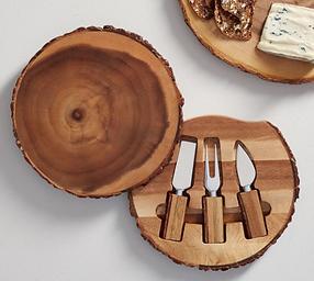 Acacia Wood Cheese Knife Set