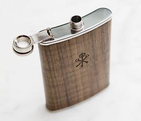 Walnut Wood 8oz Flask