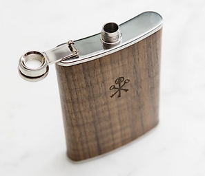 Walnut Wood 8oz Flask