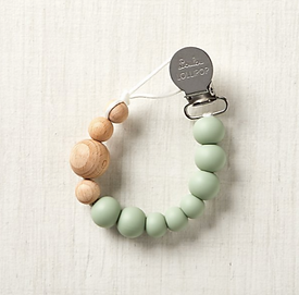 Silicone and Wood Pacifier Clip