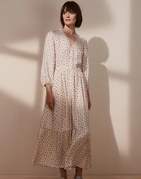 Daisy Print Midi Dress