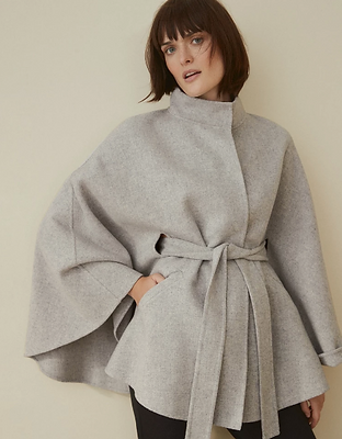 Double-Face Wool Cape