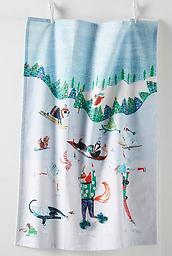 Winter Woodland Dish Towel