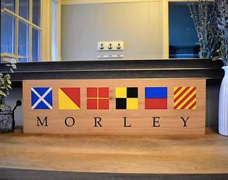 Nautical Flag Name Sign