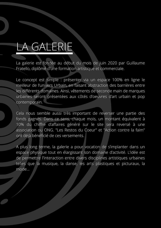 Présentation Galerie - Dossier de Presse