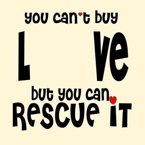 Rescue love (fur babies)