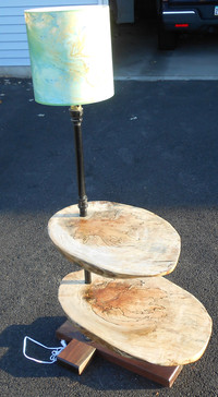 Spalted Maple & Walnut side table