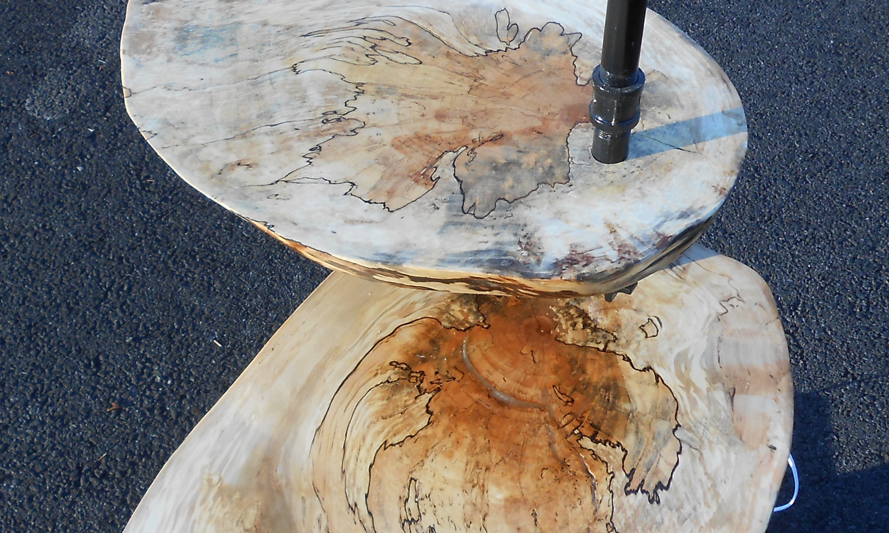 Spalted Maple and Walnut Side Table