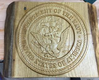 USN Seal on Sassafras