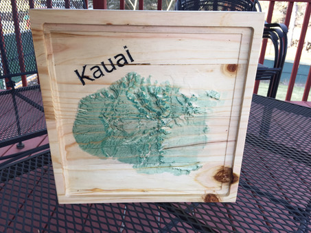 Topo map of Hawaii