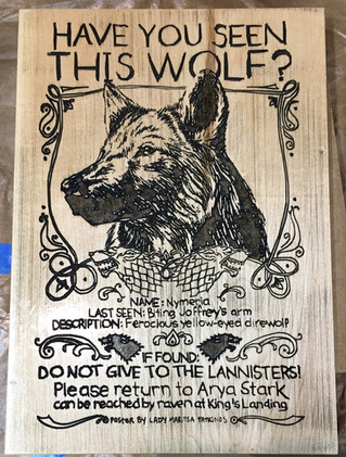 Wolf Poster on Maple