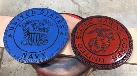 US Navy and USMC Seals