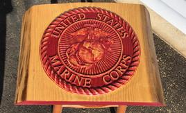 USMC Logo on Sassafras