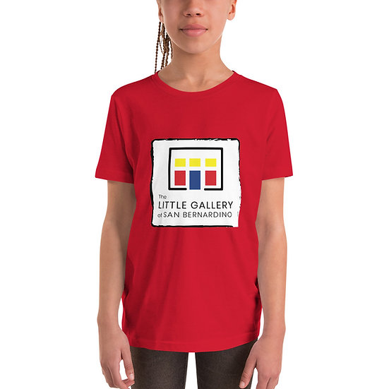 The Little Gallery of San Bernardino Logo Youth Short Sleeve T-Shirt