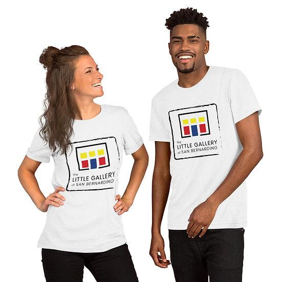 The Little Gallery of San Bernardino Logo Short-Sleeve Unisex T-Shirt