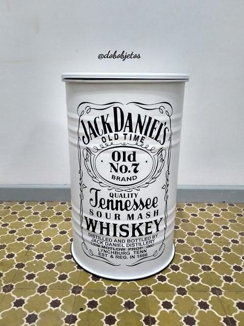 Tambor Decorativo Jack Daniels M Frisado