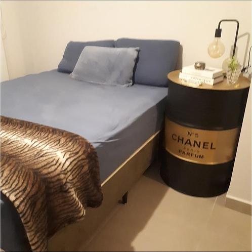 Tambor Decorativo Chanel Preto-dourado - Tamanho G