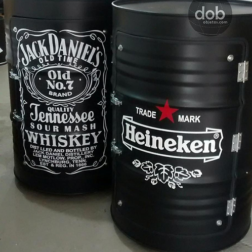 Tambor Armário Heineken Black - Tamanho G