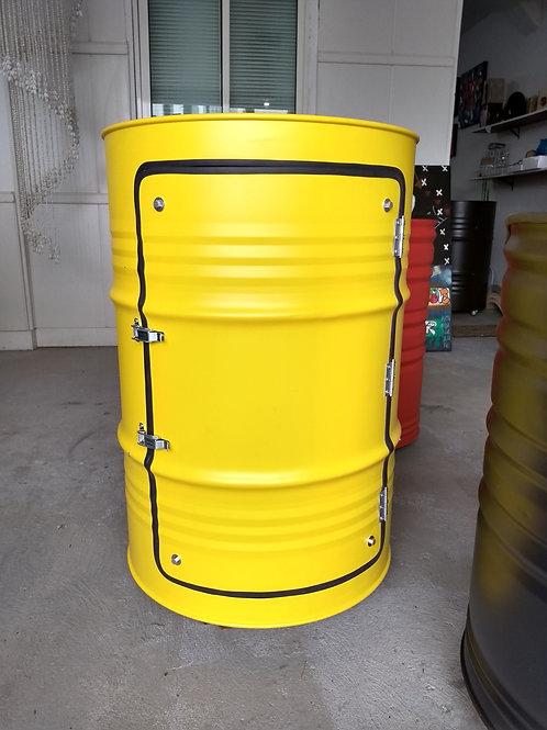 Tambor armário bar amarelo