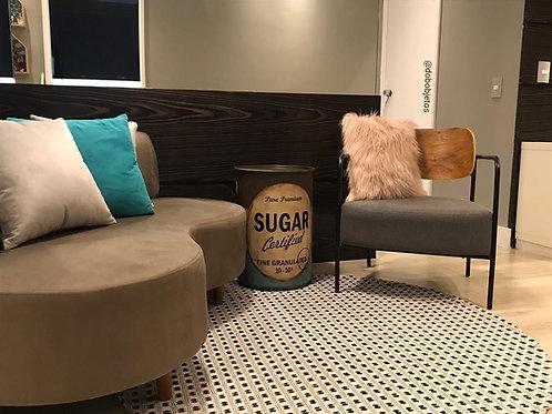 Tambor Decorativo Sugar - M -Tampa removível c