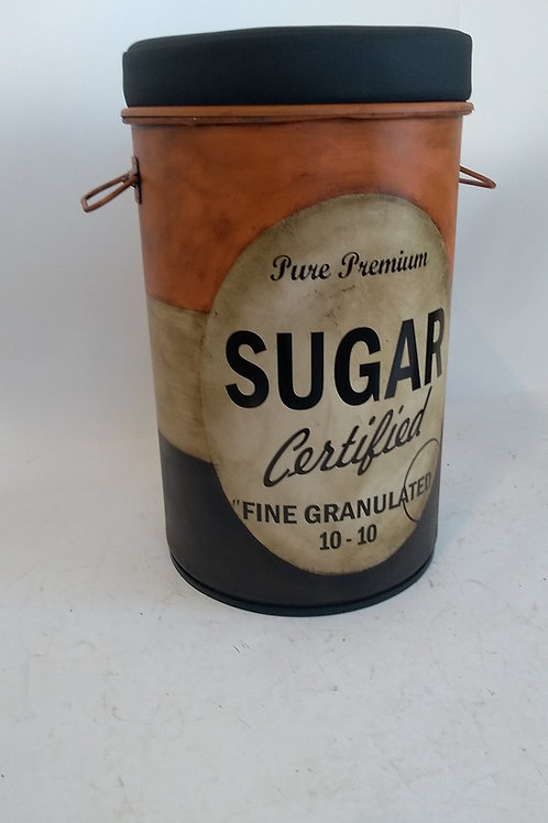Tambor M Sugar Laranja com puff