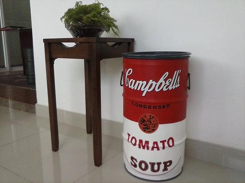 Tambor decoração Campbell's - tampa removível e alças. P