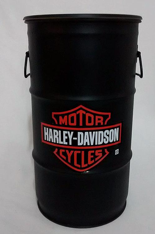 Harley-Davidson (Preto)-Tampa removível e alças. P