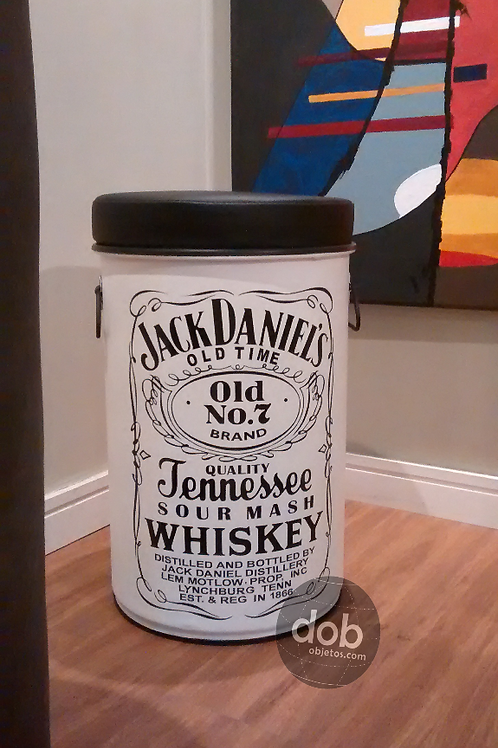 Tambor Decorativo Jack Daniels M - Branco