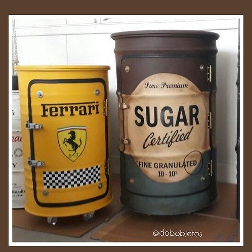 Tonel Bar armário Sugar Vintage - Tamanho G