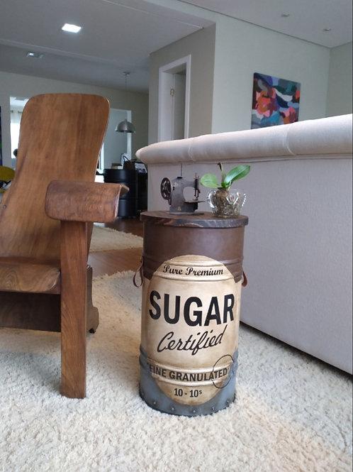 Sugar - Tampa removível - P- Tampa de madeira