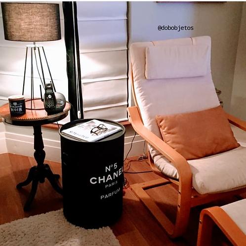 Tonel  decoração Chanel n. 5 - Tampa removível e alças. M